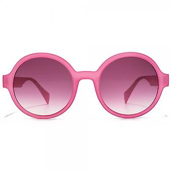 EYEYE By Italia Independent Round Sunglasses In Fuchsia LED