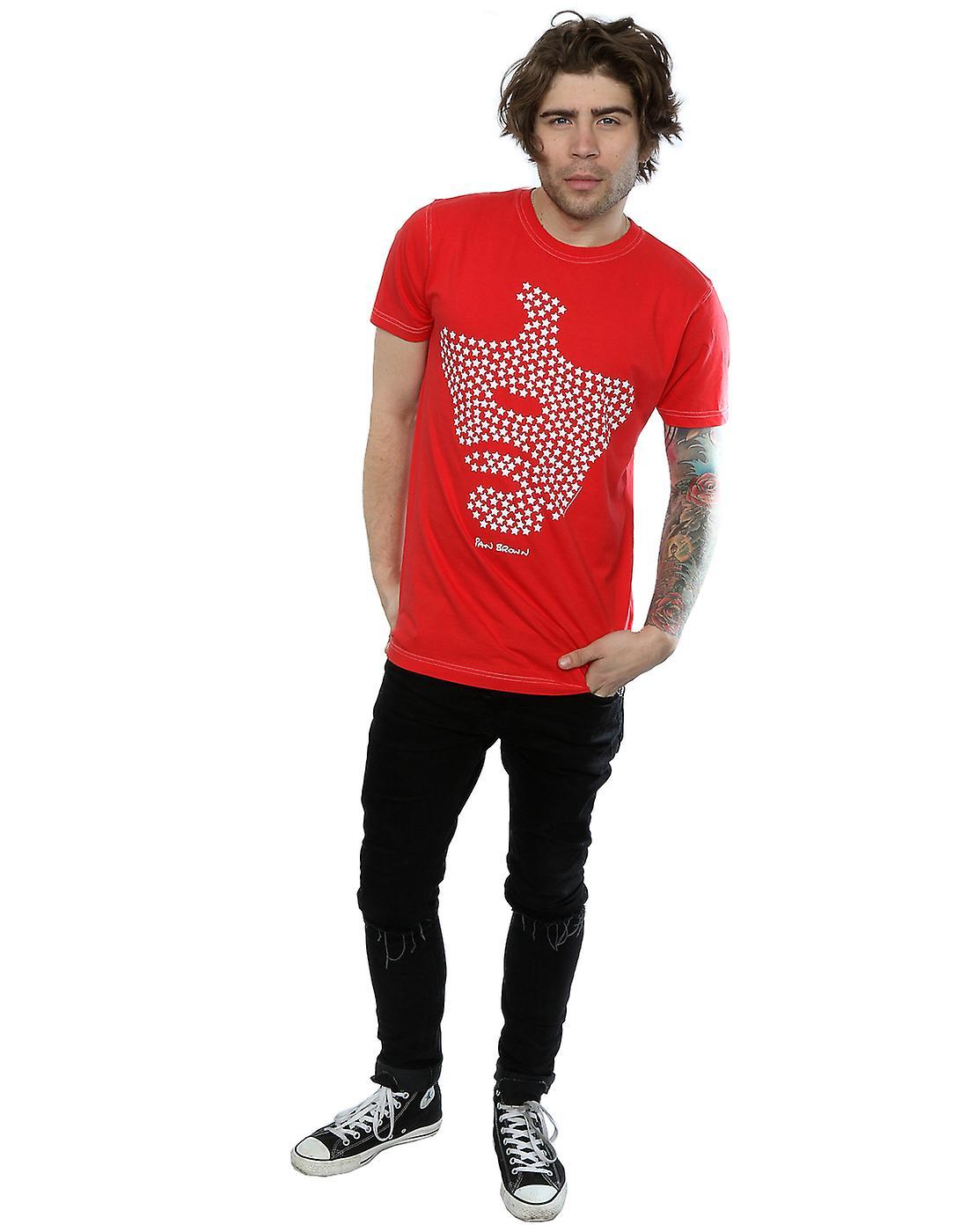Aftershow Men's Ian Brown Star Face T-Shirt