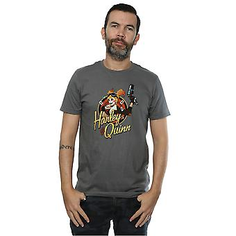 DC Comics Men's DC Bombshells Harley Quinn Badge T-Shirt