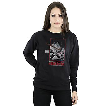Friday 13th Women's Distressed Axe Poster Sweatshirt
