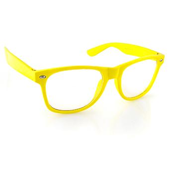 Iced out bling sunglasses - RETRO yellow clear