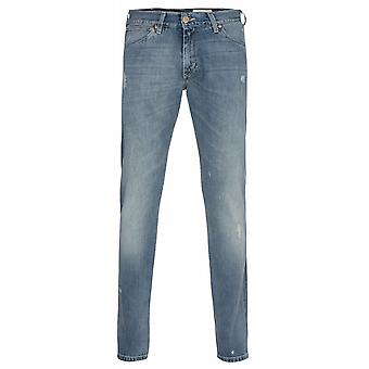 Wrangler Lars tone pants men's blue denim cotton stretch