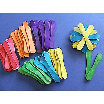 60 Coloured Wooden Spoons | Wooden Shapes for Crafts