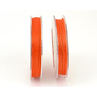 7mm Organza Craft Ribbon - 10m Reel - Orange | Ribbons & Bows for Crafts