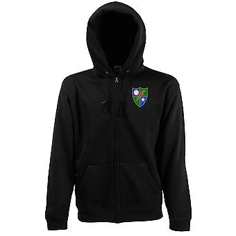 US Army 75th Ranger Regiment Embroidered Logo - Zipped Hoodie Jacket
