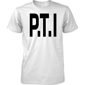Licensed MOD -  PTI Physical Training Instructor - Text - Mens T Shirt