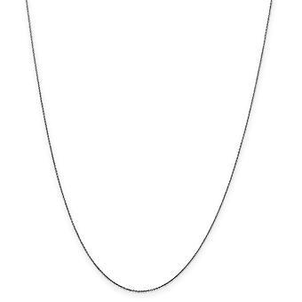 14 k Primavera de ouro branco anel 5mm sólido Sparkle-corte cabo corrente colar -.6 gramas - 14 polegadas
