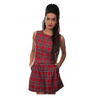 The Fashion Bible Red Tartan Playsuit