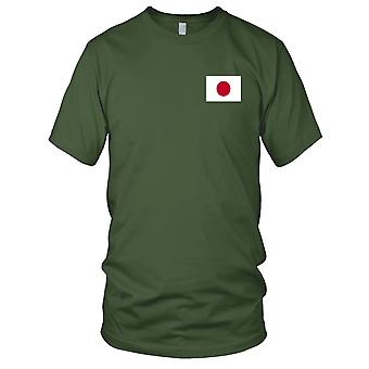 Japan-Land Nationalflagge - gesticktes Logo - 100 % Baumwolle T-Shirt Kinder T Shirt