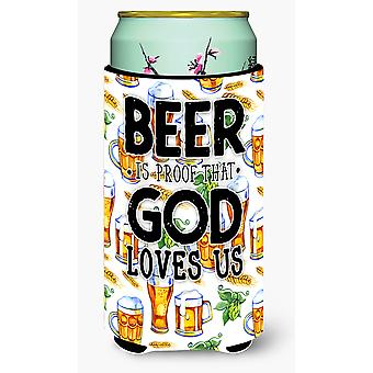 Beer is Proof God Loves You Tall Boy Beverage Insulator Hugger