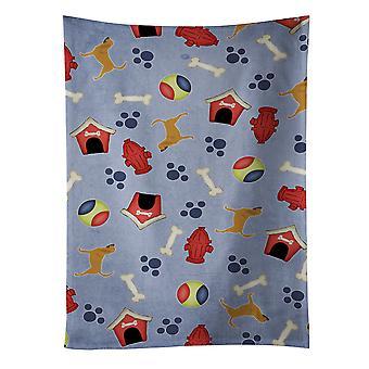 Carolines tesouros BB3884KTWL Bloodhound cachorro casa coleção toalha de cozinha