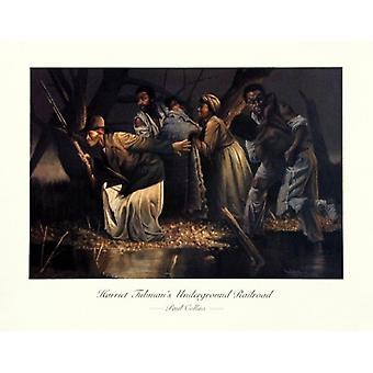 Harriet Tubmans Underground Railroad Poster Print by Paul Collins (28 x 22)