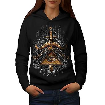 Triangle Society Women BlackHoodie | Wellcoda