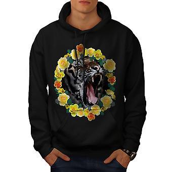 Tiger les fleurs BlackHoodie hommes | Wellcoda