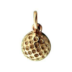 9ct Gold 10mm Golf ball Pendant or Charm