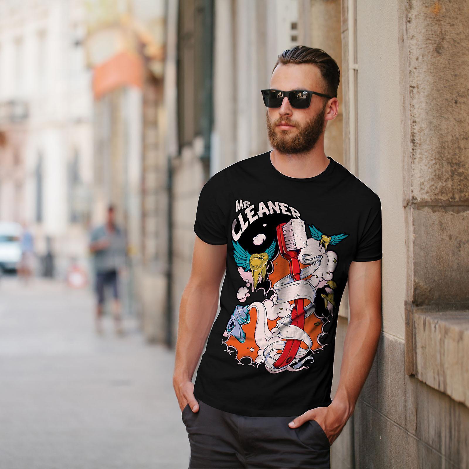 Herr renare Cool Slogan män BlackT-skjorta | Wellcoda
