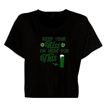 Keep Your Kiss I'm Here For This Patrick's Day Women's Flowy Boxy Tee