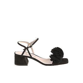 Alberto Gozzi ladies BLAN218CAMNERO Black Suede sandals