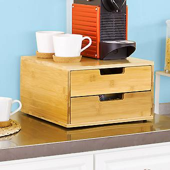 SoBuy Coffee Machine Stand & Pod Capsule Storage Organiser 2 Drawers, FRG82-N