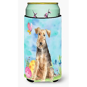 Easter Eggs Welsh Terrier Tall Boy Beverage Insulator Hugger