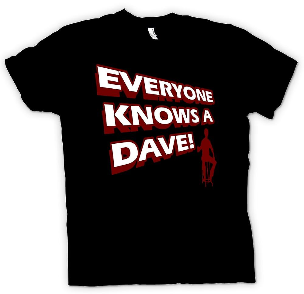 Mens T-shirt - Everyone Knows A Dave - Funny