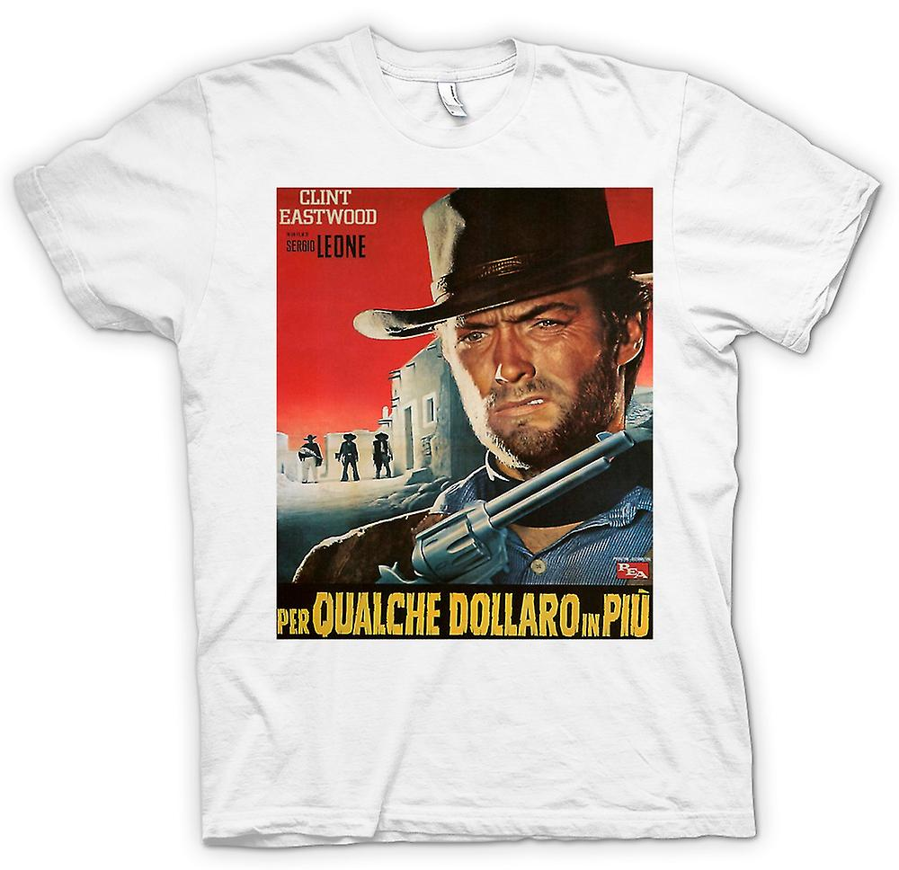 Womens T-shirt - For A Few Dollars More - Clint Eastwood