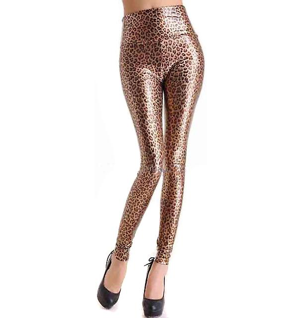 Waooh - Fashion - Leggings long satin style leopard