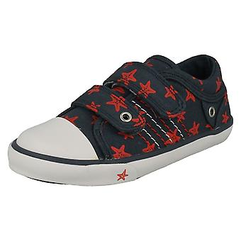 Childrens Boys/Girls Startrite Casual Shoes Zip - Navy Canvas - UK Size 10.5F - EU Size 28.5 - US Size 11.5