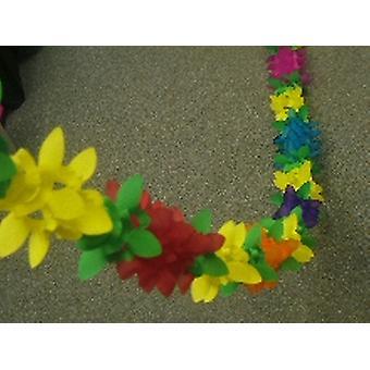 装飾 '花' 盛り合わせ色ガーランド (1)
