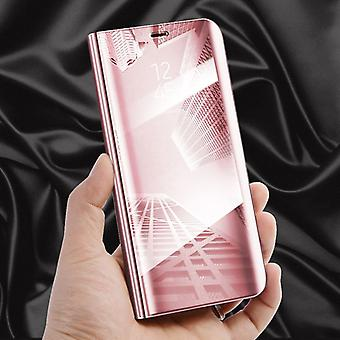 Clear view mirror mirror smart cover Pink for Samsung Galaxy S9 plus G965F protective case cover pouch bag case new case wake UP function
