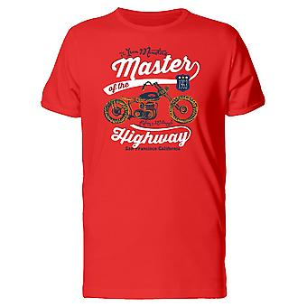 Master Of The Highway Motorcycle Tee Men's -Image by Shutterstock