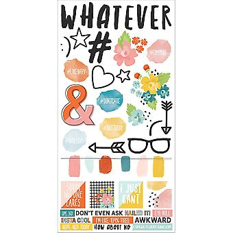 Simple Sets #whatever Cardstock Stickers 6