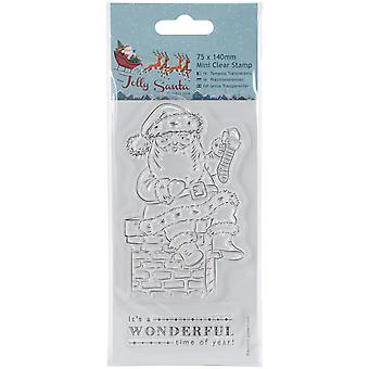 Papermania Jolly Santa Mini Clear Stamps 75mm X 140mm-Chimney