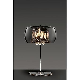 Trio verlichting Vapore Modern chroom metalen tafellamp