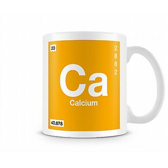 Element Symbol 020 Ca - Calcium Printed Mug