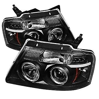 Spyder Auto 5010209 LED Halo Projector Headlights Black/Clear