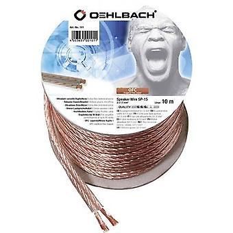 Oehlbach 101 altavoz 2 x 1.50 mm² transparente 10 m de cable