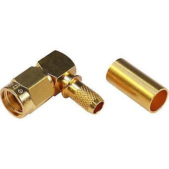 SMA reverse polarity connector Plug, right angle 50 Ω Telegärtner J01150R0031 1 pc(s)