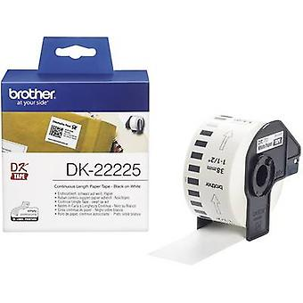 Brother DK-22225 Label roll 38 mm x 30.48 m Paper White 1 Rolls Permanent DK22225 All-purpose labels