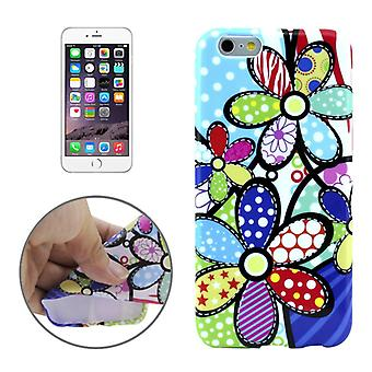 Protective case pouch pouches TPU for phone Apple iPhone 6 s plus motif of colorful flowers