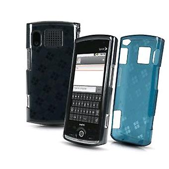 Sprint Silicone Gel Skin Case for Sanyo Zio - Charcoal/Teal