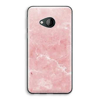 HTC U Play Transparent Case (Soft) - Pink Marble