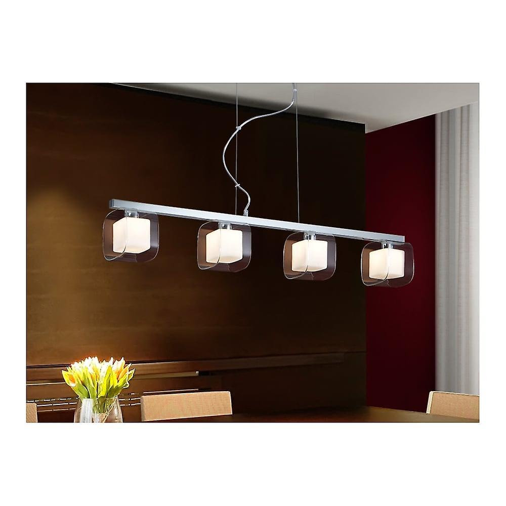 Schuller Modern Chrome Hanging Bar Ceiling Light Pendant