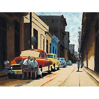 Rua cubano cena Poster Print by Samuel Toranzo (20 x 16)