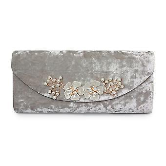 Lunar Ginny Crushed Velvet Clutch Bag