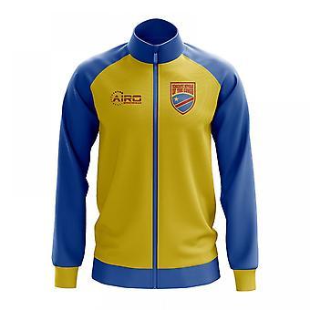 6013146b0 Democratic Republic Of Congo Concept Football Track Jacket (Yellow)