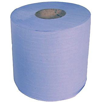 Staples 1 Ply Blue Centrefeed Rolls 300m x 195mm