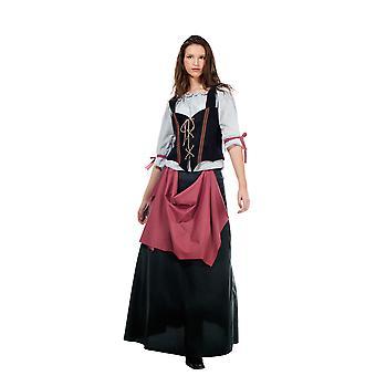 Landlady ladies costume dispensing woman hostess medieval Lady costume
