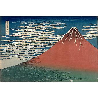 Monte Fuji en tiempo claro, Katsushika Hokusai, 27x38cm