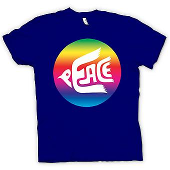 Kids T-shirt - Peace Rainbow Dove Logo